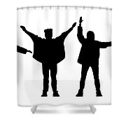 The Beatles No.07 Shower Curtain by Caio Caldas