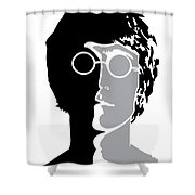The Beatles No.08 Shower Curtain by Caio Caldas