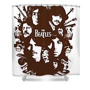 The Beatles No.15 Shower Curtain by Unknow