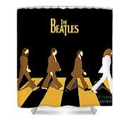 The Beatles No.19 Shower Curtain by Caio Caldas