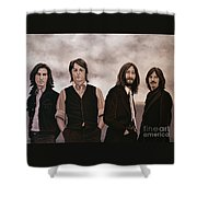 The Beatles Shower Curtain by Paul Meijering