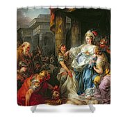 The Beheading Of Cyrus IIi Shower Curtain by Jean Simon Berthelemy