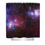 The Belt Stars Of Orion Shower Curtain by Robert Gendler