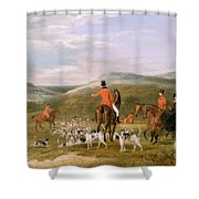 The Berkeley Hunt Shower Curtain by Francis Calcraft Turner