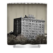 The Bethlehem Hotel Shower Curtain by Bill Cannon