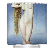 The Birth Of Venus Shower Curtain by Eugene Emmanuel Amaury Duval