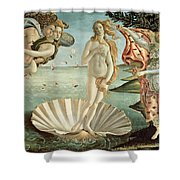 The Birth of Venus Shower Curtain by Sandro Botticelli