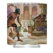 The Bitter Draught of Slavery Shower Curtain by Ernest Normand