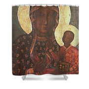 The Black Madonna Of Jasna Gora Shower Curtain by Russian School