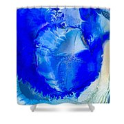 The Blues Shower Curtain by Omaste Witkowski