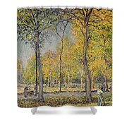 The Bois De Boulogne Shower Curtain by Alfred Sisley