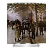The Boulevards Shower Curtain by Jean Beraud