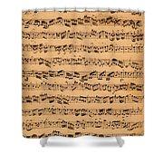 The Brandenburger Concertos Shower Curtain by Johann Sebastian Bach