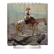 The Bridal Path Shower Curtain by Winslow Homer