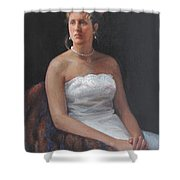 The Bride Shower Curtain by Dianne Panarelli Miller