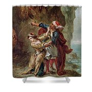 The Bride Of Abydos Shower Curtain by Ferdinand Victor Eugene Delacroix