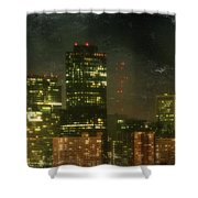 The Bright City Lights Shower Curtain by Laurie Search