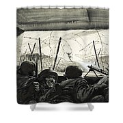 The Bunker  Shower Curtain by Graham Coton