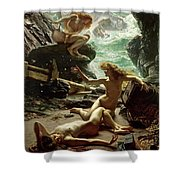 The Cave of the Storm Nymphs Shower Curtain by Sir Edward John Poynter