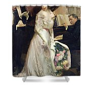 The Celebrated Shower Curtain by Joseph Marius Avy