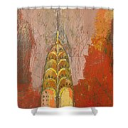 The Chrysler In Motion Shower Curtain by Habib Ayat