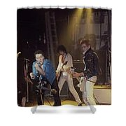 The Clash-london - July 1978 Shower Curtain by Dawn Wirth