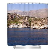 The Coast Of Zingaro Reserve Shower Curtain by Focus  Fotos