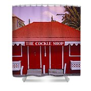 The Cockle Shop Shower Curtain by Shaun Higson