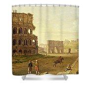 The Colosseum Shower Curtain by John Inigo Richards