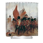 The Colours Shower Curtain by Elizabeth Southerden Thompson
