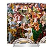 The Concert Of Angels Shower Curtain by Gaudenzio Ferrari