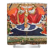 The Coronation of the Virgin Shower Curtain by Enguerrand Quarton