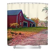 The Cottonwood In Fall Shower Curtain by Desiree Paquette