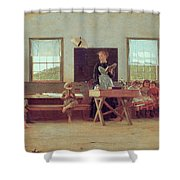 The Country School Shower Curtain by Winslow Homer