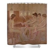 The Dancers Shower Curtain by Fernand Pelez