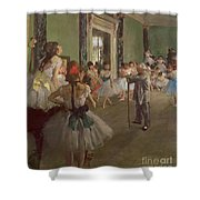 The Dancing Class Shower Curtain by Edgar Degas