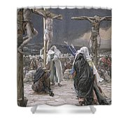 The Death Of Jesus Shower Curtain by Tissot