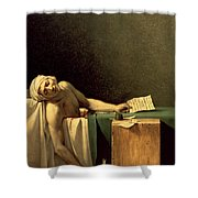 The Death Of Marat Shower Curtain by Jacques Louis David