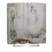 The Death Of The Virgin Shower Curtain by Guillaume Dubufe
