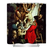 The Descent from the Cross Shower Curtain by Peter Paul Rubens