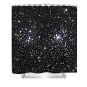 The Double Cluster, Ngc 884 And Ngc 869 Shower Curtain by Robert Gendler