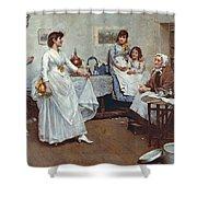 The Dress Rehearsal Shower Curtain by Albert Chevallier Tayler