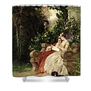 The Eavesdropper Shower Curtain by Carl Heinrich Hoff