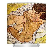 The Embrace Shower Curtain by Egon Schiele