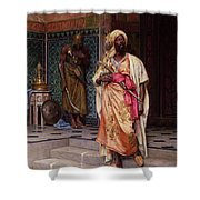 The Emir Shower Curtain by Ludwig Deutsch
