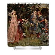 The Enchanted Garden Shower Curtain by John William Waterhouse
