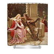 The End Of The Song Shower Curtain by Edmund Blair Leighton
