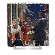 The Entertainer  Shower Curtain by Percy Tarrant