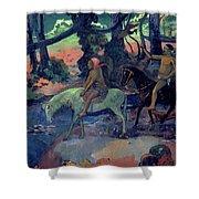 The Escape Shower Curtain by Paul Gauguin