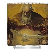 The Eternal Father Shower Curtain by Paolo Caliari Veronese
